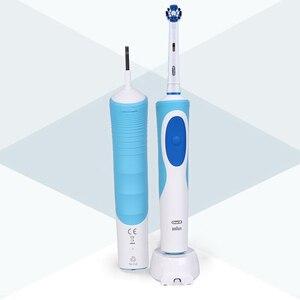 Image 4 - Oral B Elektrische Zahnbürste 2D Rotary Vibration Sauber Lade Zahn Pinsel Kreuz Action Borsten Oral Care 4 Geschenk Pinsel Köpfe freies