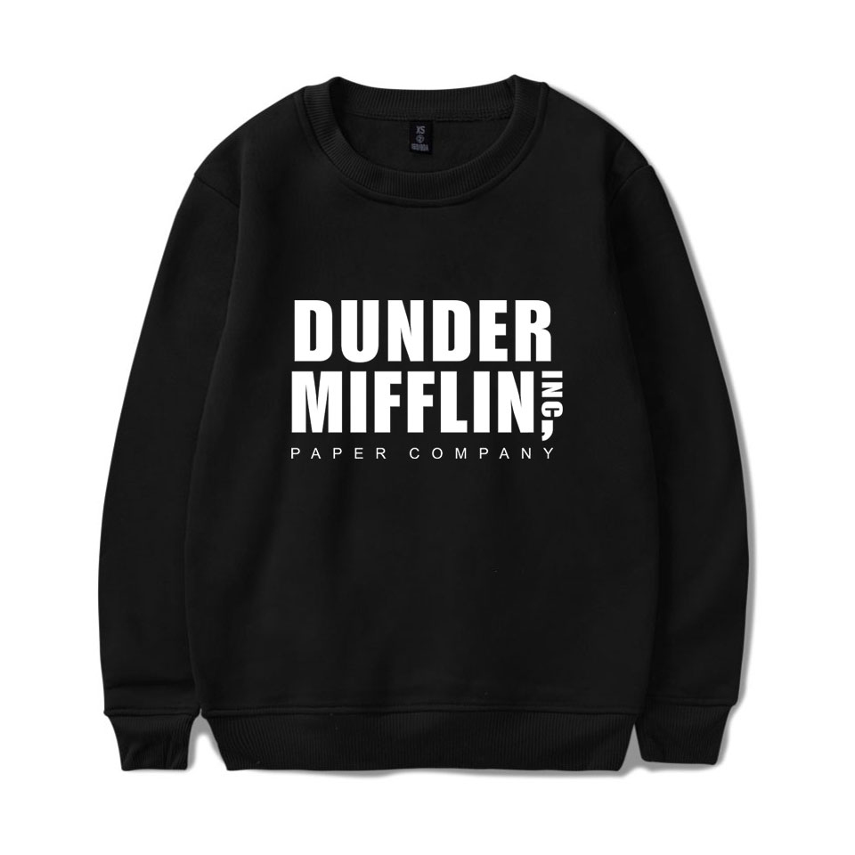 The Office TV Show Dunder Mifflin Men Long Sleeve Pullover Crewneck Autumn And Winter Men's Sweatshirts Comfortable Wholesale