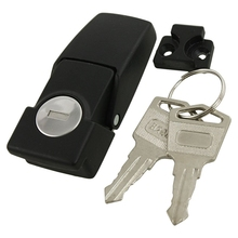 Cabinets Security Toggle Hasp Latch Lock DK604 Two Keys dks 5 zinc alloy toggle latch lock dk604 hasp cabinet hasp toggle latch lock bright chrome black with without key 1 pc