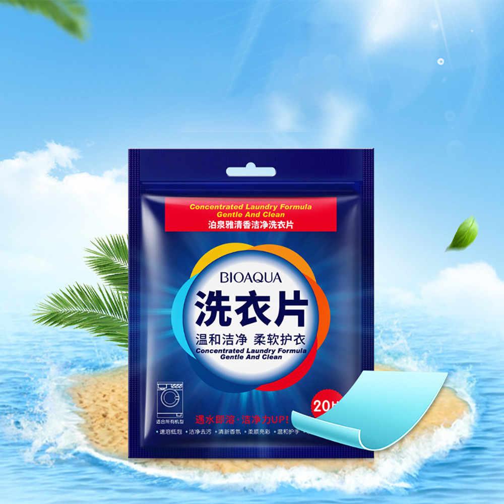 30 ^ 20 Pcs Efficiënte Wasmiddel Formule Concentraat Vloeibaar Multifunctionele Wasserij Tablet Draagbare Reizen Wassen Poeder