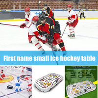 Tabletop Game for Boys Mini Rod Hockey Table Top Accessories Family Play Fun Table Game Set AN88