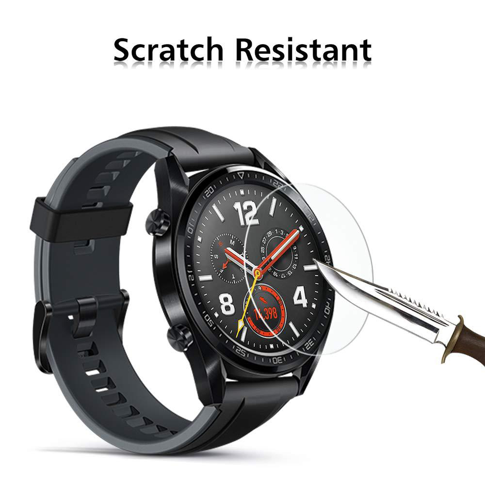 1/3/5pcs Explosion-proof Tempered Glass Protective For Huawei Watch GT SmartWatch Screen Protector Film 35.5mm Accessories