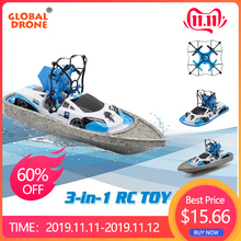 Global Drone Boat Radio-Controlled-Machine Flying Quadrocopter RC Hovercraft Vehicle