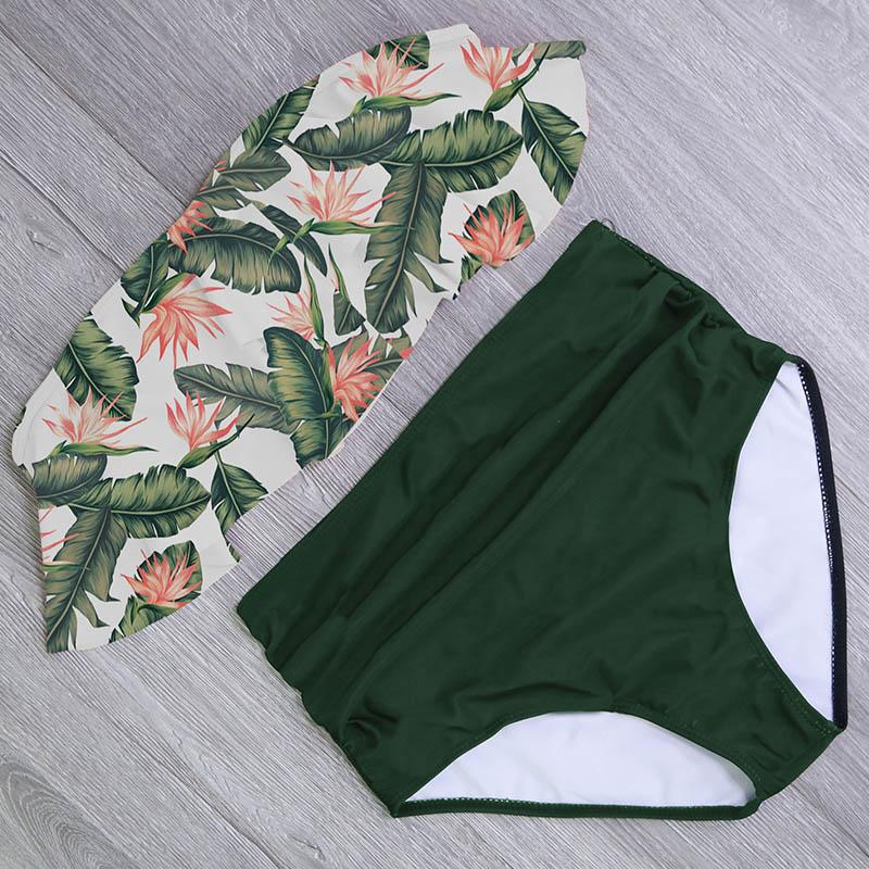 H15568c4d699849be8772f09da1f27852r 2019 New Bikinis Women Swimsuit High Waist Bathing Suit Plus Size Swimwear Push Up Bikini Set Vintage Beach Wear Biquini