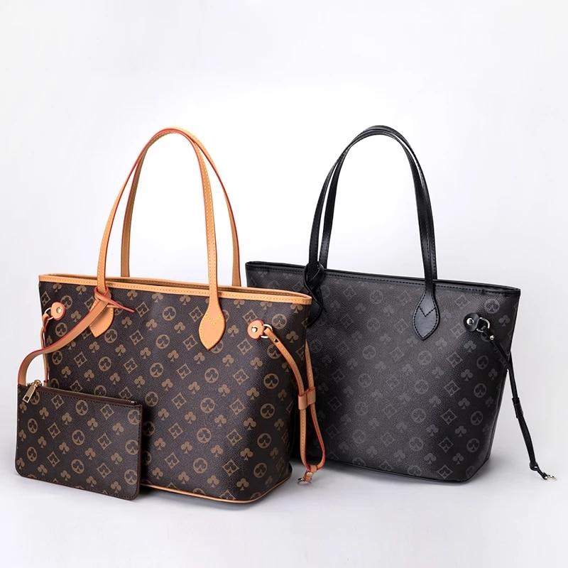 2021 neue Berühmte Marke Designer Schulter Tasche Frauen Vintage Druck Geldbörse Und Hand Taschen Für Frauen Luxus Einkaufen Handtasche Weibliche