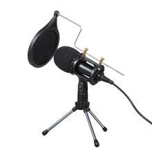 ميكروفون بمكثف سلكي ، 3.5 مللي متر ، استوديو ، تسجيل صوتي ، KTV مباشر ، ميكروفون ويب مع حامل للكمبيوتر الشخصي ، الهواتف المحمولة