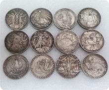 Doce constelaciones del zodiaco colección de monedas originales Set soporte desafío moneda regalo creativo