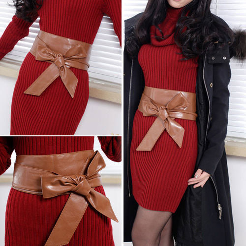 Obi Wide Waistband Women's Widely Waist Belt Faux Leather Waist Wrap Dress Belt