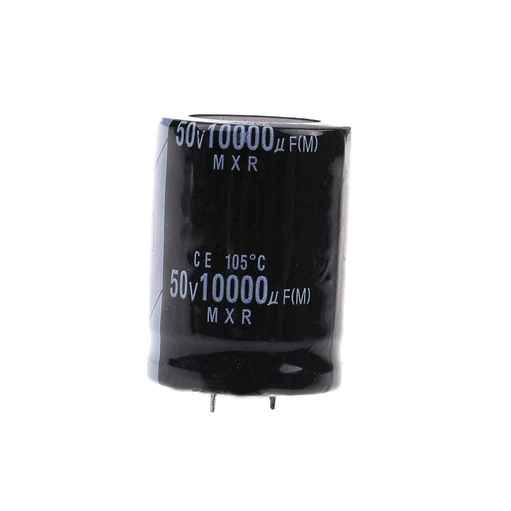 Capacitor 50Volt 10000MFD 105°C Aluminum Electrolytic 30mm×50mm Black Durable