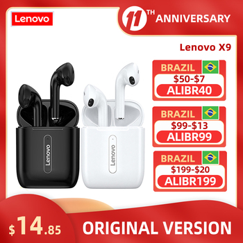 Lenovo X9 Wireless Earphone Bluetooth V5.0 Touch Control Earphones Stereo HD talking with 300mAh battery with Mic Headset