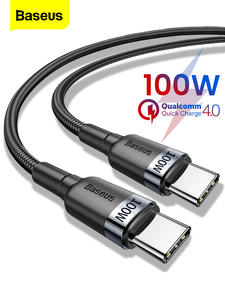 Baseus C-Cable Usb-Type Quick-Charge Xiaomi Samsung Ultra-Macbook PD Mi-10 100W S20-Plus
