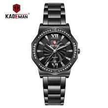 New Sweet Full Steel Design Female Bracelet Luxury Crystal Women Watches Kademan Ladies Wristwatch TOP Quality Fashion Brand