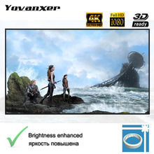 Portable Projector Screen Reflective Fabric Cloth Projection Curtain Highly Increase Brightness for Low Lumen Projectors