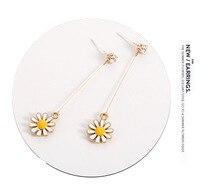 925 Sterling Silver Cubic Zirconia Long Drop Earrings for Women Korean 2019 Earings Fashion Jewelry