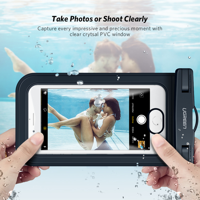 Ugreen Phone Case Bag Waterproof Phone Pouch 6.5'' Phone Bag Case For iPhone 11 Pro Max X 8 7 6S Samsung Galaxy S9 S8 Phone Case 2
