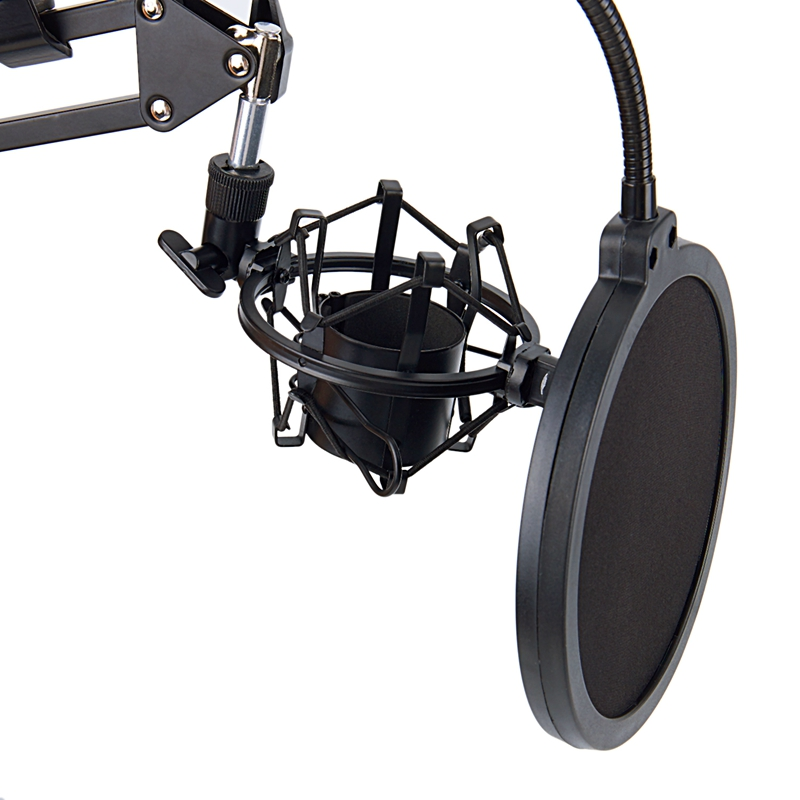 Promotion--NB-35 Microphone Scissor Arm Stand and Table Mounting Clamp&NW Filter Windscreen Shield & Metal Mount Kit 4