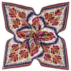 Image 4 - 2020 ビッグスクエアシルクレディース高級ブランドツイルスカーフショール蝶プリント卸売 130*130 センチメートル冬のスカーフの女性