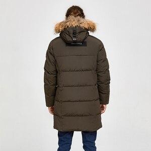 Image 3 - TIGER FORCE Alaska Jacket Men Winter Jacket Parka Men Alaska Coat Detachable Hooded MenS Winter Coat Artificial Fur Thicken