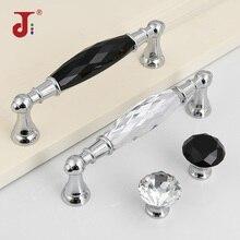 Tiradores de aleación de Zinc plateados de cristal de 96/128mm, tiradores de armario para armario, cocina, tirador de armario