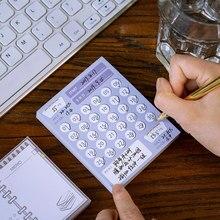 1PC Mini 100 dni łza notatnik prosty planer DO zrobienia lista finansowa podróż rekord książki szkolne