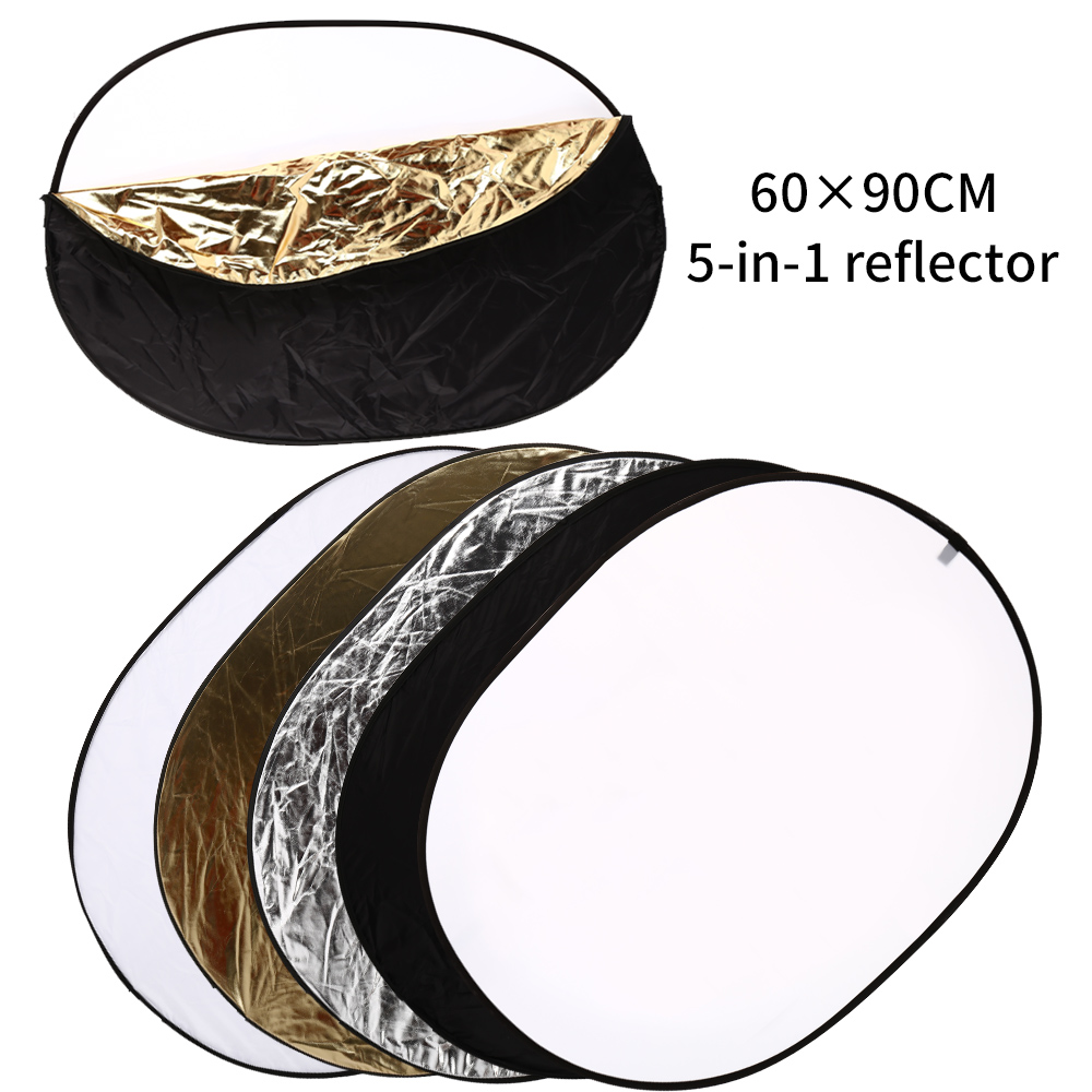 SH 60x90CM 5-in-1 Portable Collapsible Multi-Disc Diffuer Light Oval Reflector With Carrying Bag For Photography Studio Shooting