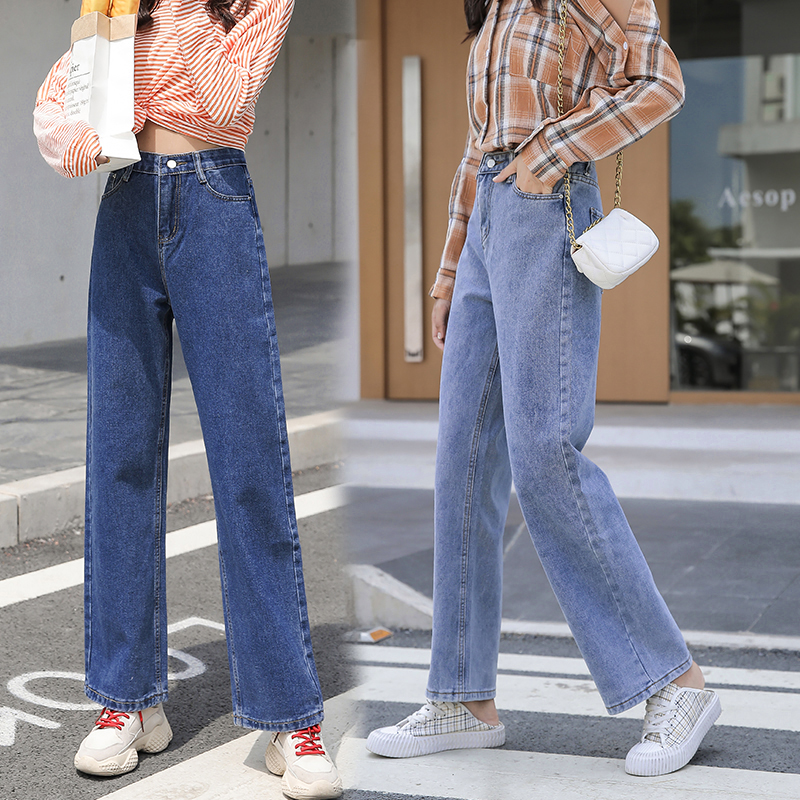 Fa9012 2019 New Autumn Winter Women Fashion Casual  Denim Pants Womens Clothing  Jeans Womens