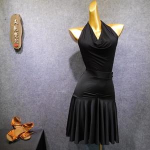 Image 4 - sexy women sleeveless lace bodysuit latin dance top Dancer Leotards Adult Lycra Spandex Dance Wear back less Ballerina Suit