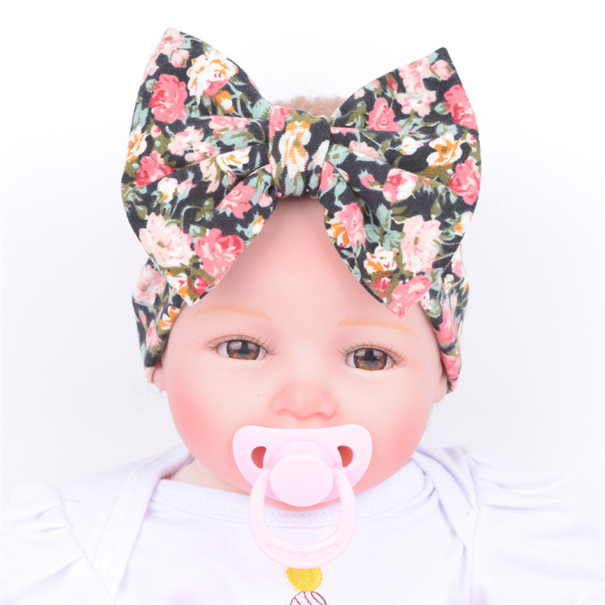 Baby Headband Flower Baby Infant Kids Girls Bowknot Hairband Turban Bowknot Headwrap Hairband Print Sweet Turban