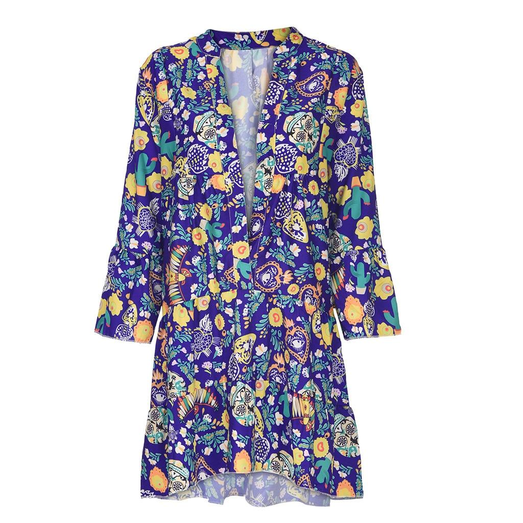 H1557f951803e459194de70a04519f1ddj Spring Autumn Women Dress Plus Size 5XL Loose Print Long Sleeve V-Collar Button Party Dresses Casual Loose Women Dresses 2019