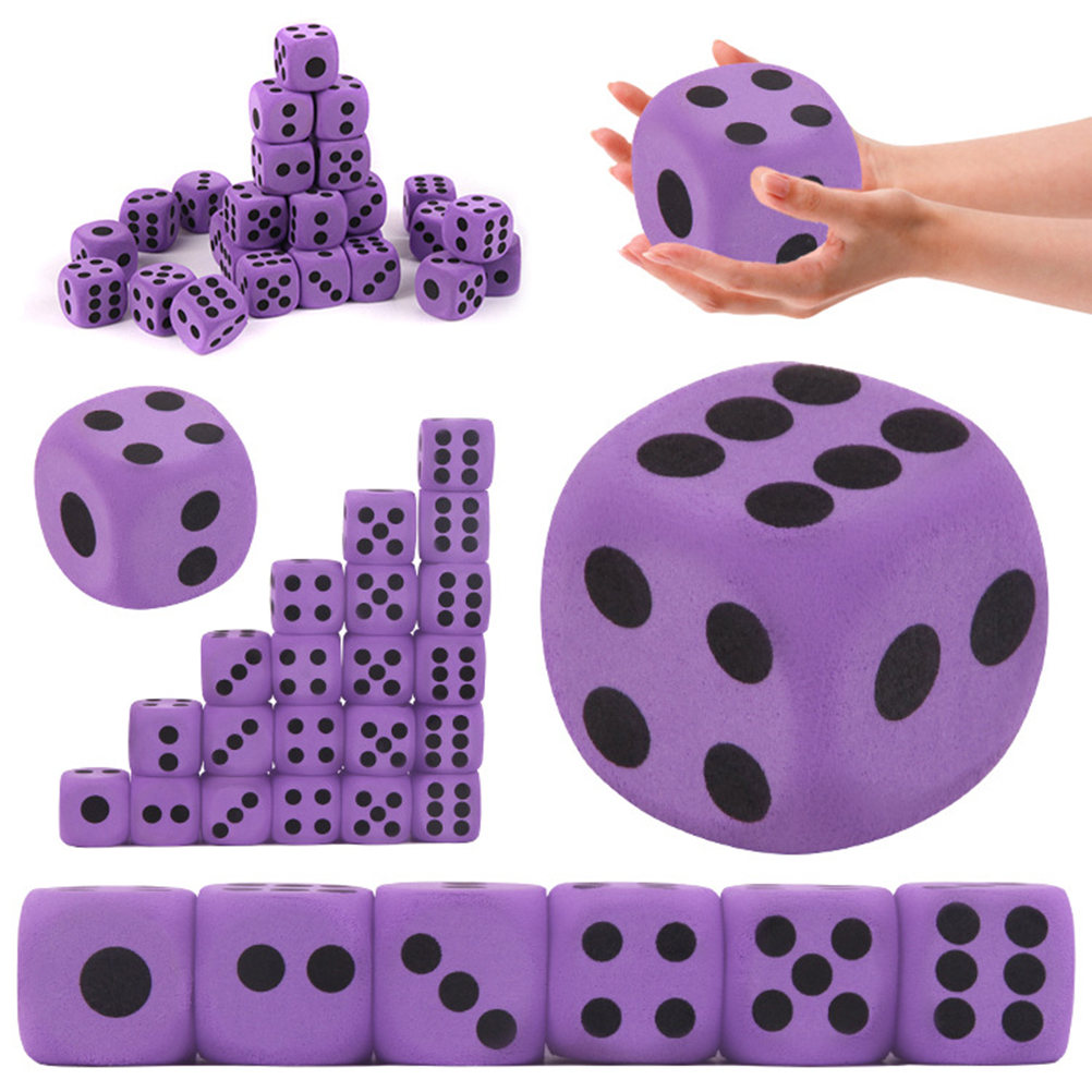 Large EVA Dice Game Entertainment Number Dice Purple Dice Children Toy  Kid Educational Toys Block Party Toy  Block Party Toy