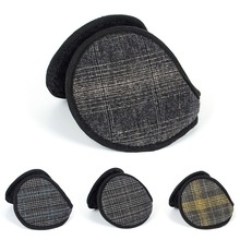 Durable Plaid Earmuffs Winter Ear Warmer Cover Soft Plush Ear Muff Outdoor Skiing Cycling Cold Weather Earmuffs
