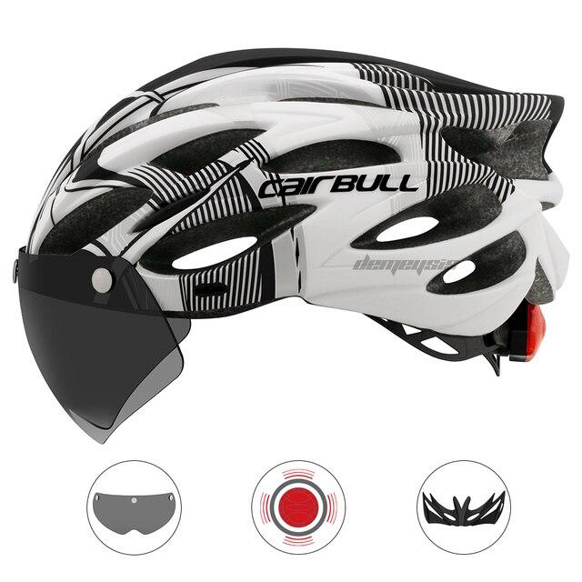 Cairbull ultraleve ciclismo capacete com removível viseira óculos de bicicleta rolos equitação capacetes da motocicleta capacete de proteção 3
