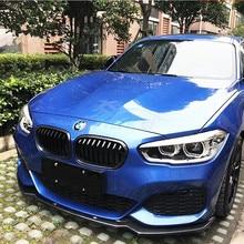 Автомобильный Стайлинг для BMW M125i M140i M135i LCI из настоящего углеродного волокна передний губной разветвитель задний спойлер/М-бампер