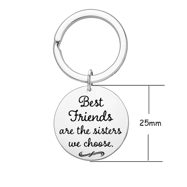 Fashion Keyring Drive Safe Name Stainless Steel Keychain Couples Key Rings Women Men Friend Family Key Chain Pendant Jewelry 5