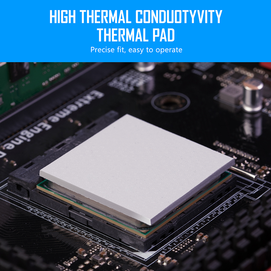 Zezzio Thermal Pad conductivity 12.8W/MK for CPU GPU Motherboard Mining RAM Multifunction Thermal conductive silicone pad 5