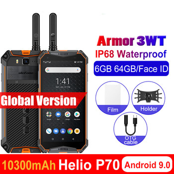 Перейти на Алиэкспресс и купить Ulefone Armor 3WT мобильный телефон IP68 Водонепроницаемый 10300mAh 5,7 дюймFHD + 6GB + 64GB Helio P70 Android 9,0 глобальная версия смартфона