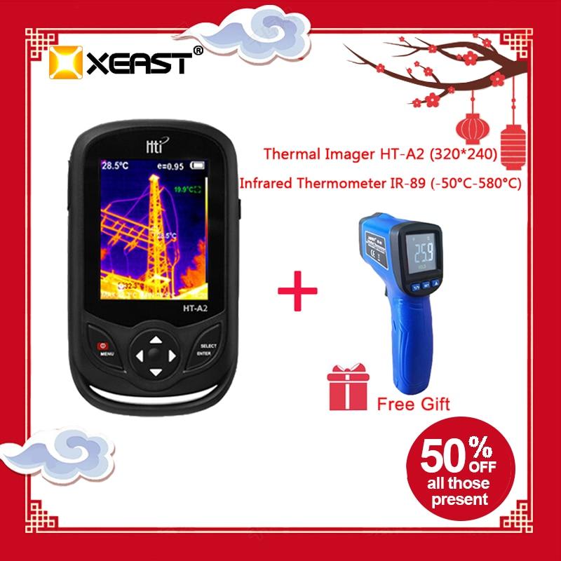 Caméra infrarouge thermique 2019 d'imageur d'affichage numérique tenu dans la main de TFT 320*240 dans la mise à niveau de HT-A2 de stock pour la chasse extérieure rapide