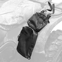 2PCS 600D Oxford ATV Fender Bags ATV Tank Saddle Bags Cargo Storage Hunting Bags Waterproof With Zipper Closures