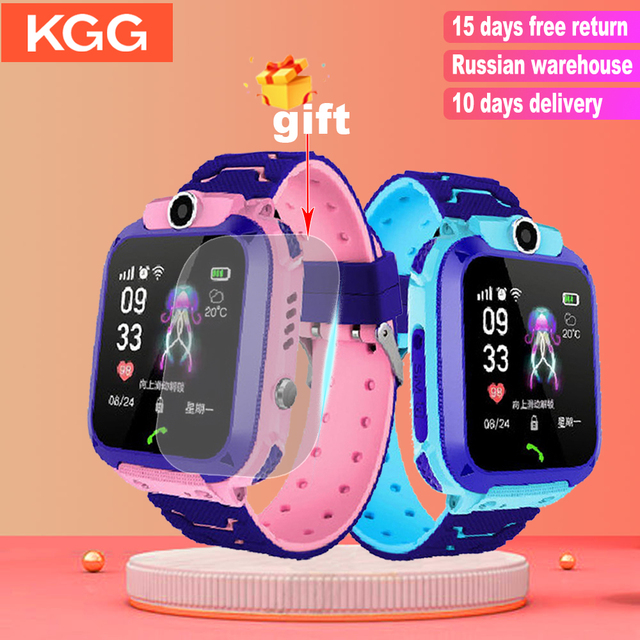Q12 Kids Smart Watch SOS Phone Watch Smartwatch Kids 2G Sim Card Smart Phone IP67 Waterproof Children's Smart Watch Gift Clock 1