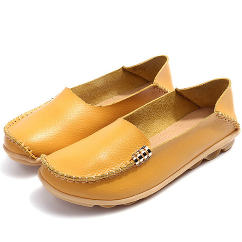 Flat Shoes Women Slip On Shoes For Women's moccasins Genuine Leather Loafers Women Flats Ladies Shoes Plus Size Sapato Feminino