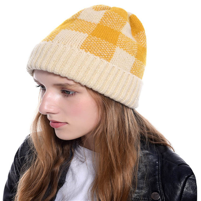 Unisex Beanie Autumn Winter Knitted Double-sided Cute Hat Acrylic Wool Women Men Hat SkullCap Hats Gorro Thick Warm Casual Cap