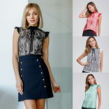 Hot Selling Summer New Products WOMEN'S Dress Frilled Stand