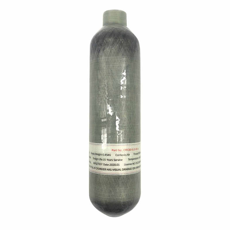 Cilindro de fibra de carbono Acecare 0,5 l 500cc tanque de Paintball 4500psi 300bar 30Mpa para Rifle de aire Pcp Airforce Condor Airsoft Airguns