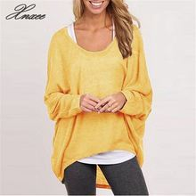 цена на Xnxee 2020 NEW Spring Autumn Women Blouse Casual Female Loose Batwing Long Sleeve Shirt ladies Sweater Pullovers Plus Size