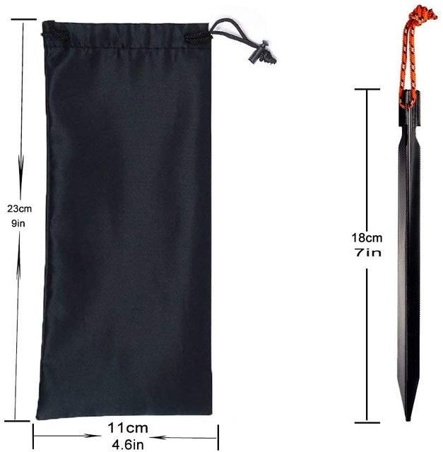 10 PCS Tent Stakes with Rope Tent Accessories Camping Equipment Outdoor Travel 18cm Tent Pegs Nail 6