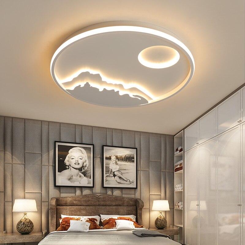 Современное искусство затемнения Светодиодный Люстра для 110 V/220 V гостиная, спальня, спальня, Декор для дома Nordic Потолочная люстра