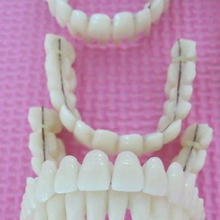 Dentures Tooth False-Teeth Fake Upper-Lower-Resin Whitening 28pcs Removable Postiza Temporary