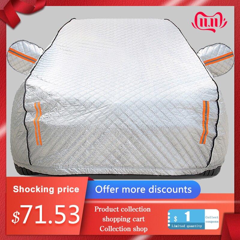 Чехол для автомобиля на четыре сезона с алюминиевой пленкой и хлопковой подкладкой, чехол для автомобиля на зимнее лобовое стекло, чехол дл...