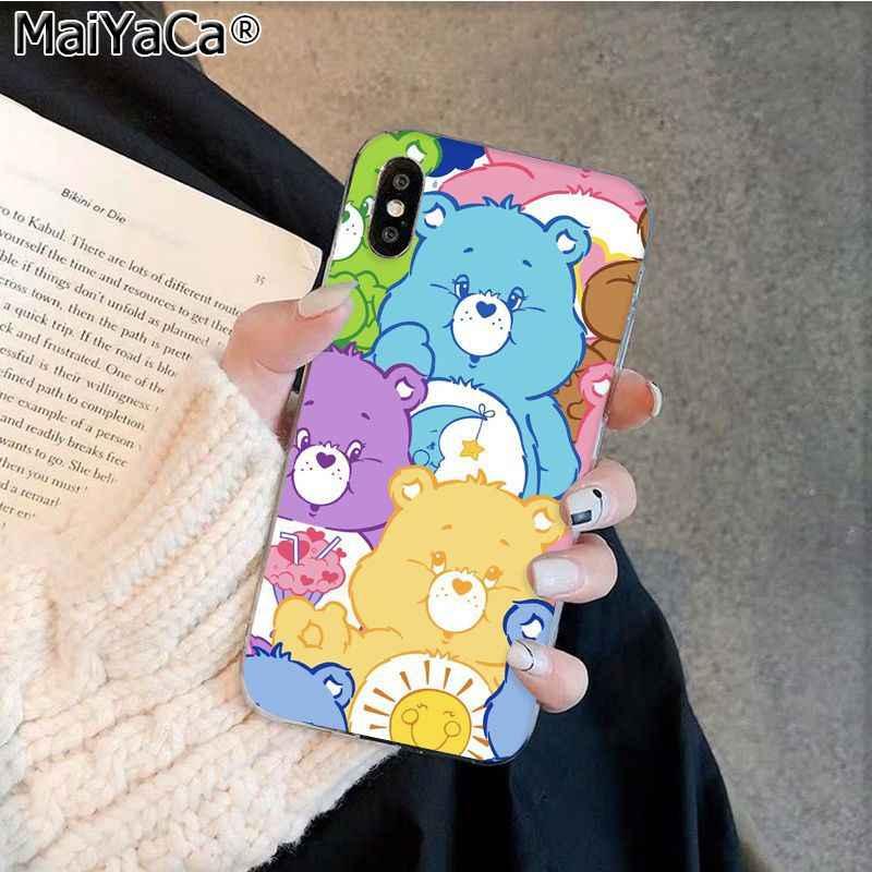 MaiYaCa стильная футболка с изображением персонажей видеоигр Care Bears Роскошный чехол для телефона Apple iphone 11 pro 8 7 66S Plus iphone X XS MAX 5S SE XR корпус под плетенную сумку