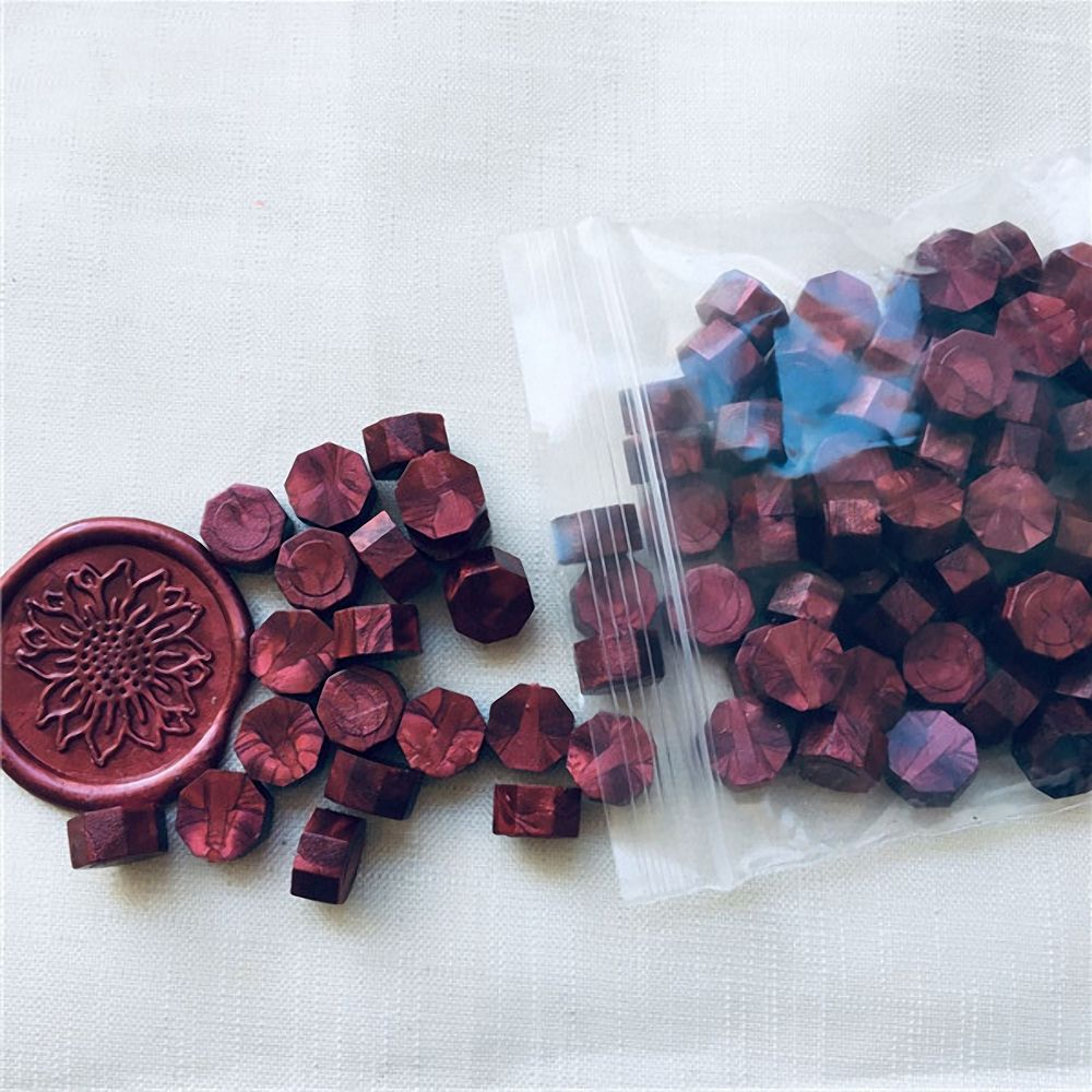 Image 4 - 100Pcs/Lot Retro Stamping Sealing Wax Colorful Beads Wax Seal Stamps for Envelope Documents Wedding Birthday Party Invitation-in Stamps from Home & Garden